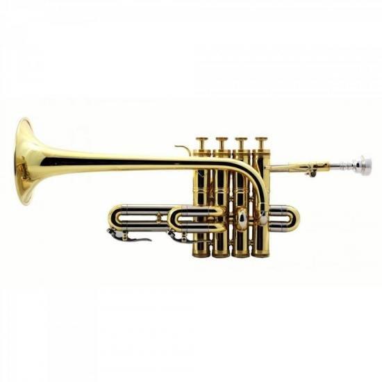 Trompete Piccolo sem Estojo WNTRP1L0 Dourado WERIL