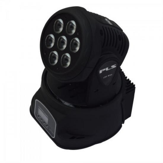 Iluminação Mini Moving Head LED BLIZZ Bivolt Preto PLS