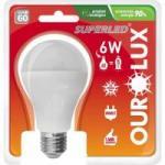 Lâmpada LED Bulbo 6W Bivolt 6400K Branca OUROLUX