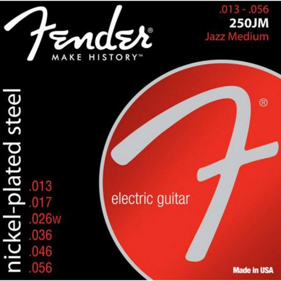 Encordoamento para Guitarra Aço 0.013 250JM Niquelado FENDER