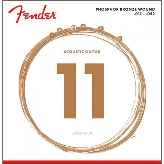 Encordoamento para Violão Aço 0.011 60CL Bronze Fosforoso FENDER