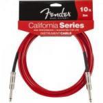 Cabo para Instrumentos P10 x P10 3m CALIFORNIA SERIES Vermelho FENDER