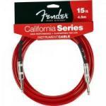Cabo para Instrumentos P10 x P10 4,5m CALIFORNIA SERIES Vemelho FENDER