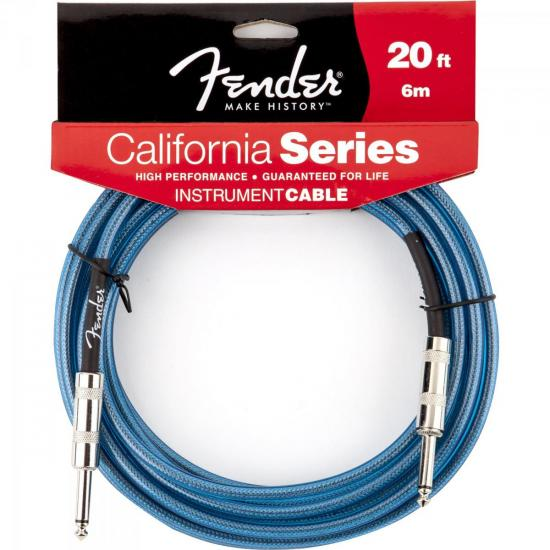 Cabo para Instrumentos P10 x P10 6m CALIFORNIA SERIES Azul FENDER