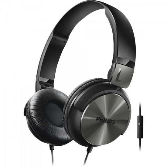 Fone de Ouvido Estilo DJ com Graves Nítidos e Microfone Integrado SHL3165BK/00 Preto PHILIPS