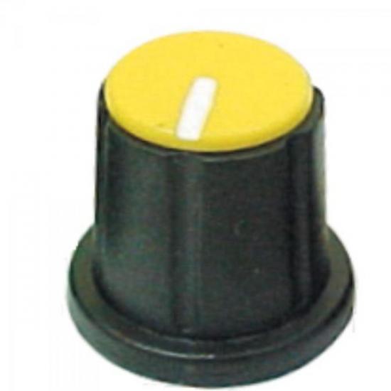 Knob Estriado para Mesa de Som KP-200 Amarelo SCOTT