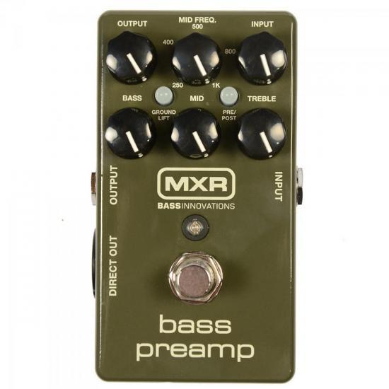 Pedal de Efeitos BASS PREAMP M81 Verde MXR