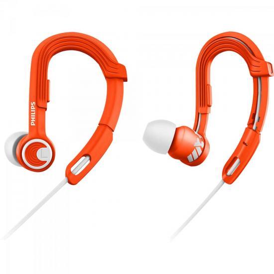 Fone de Ouvido Esportivo Gancho Ajustável SHQ3300OR/00 Laranja PHILIPS