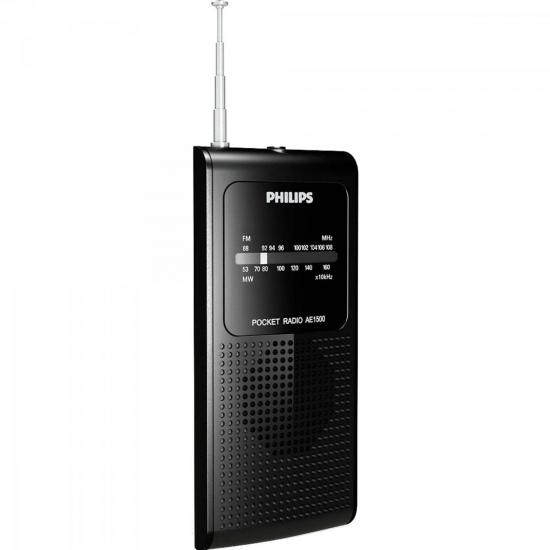 Rádio Portátil AM/FM AE1500X/78 Preto PHILIPS