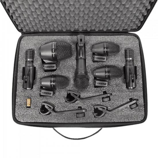 Kit de 7 Microfones Para Percussão PGADRUMKIT7 Preto SHURE