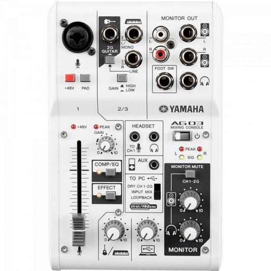 Mesa de Som e Interface de Áudio 3 Canais AG03 YAMAHA