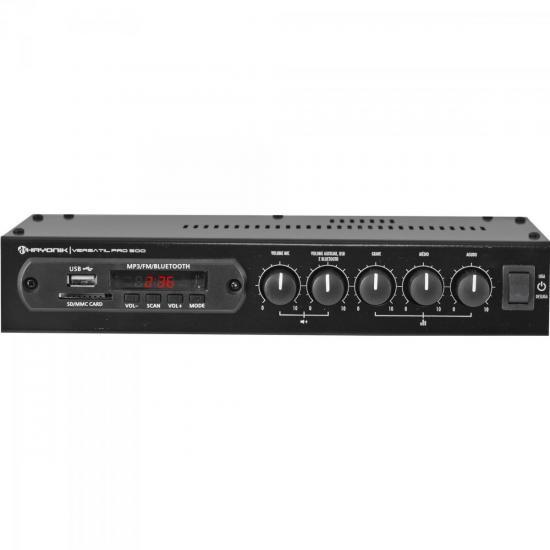 Amplificador 50W com Bluetooth VERSATIL PRO-500 Preto HAYONIK