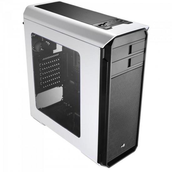 Gabinete Gamer Mid Tower AERO-500 WINDOW EN55583 Branco AEROCOOL