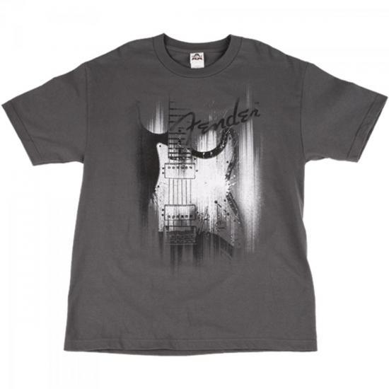 Camiseta AIRBRUSH M Cinza FENDER