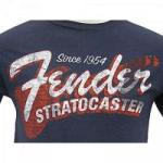 Camiseta SINCE 1954 STRAT G Azul FENDER