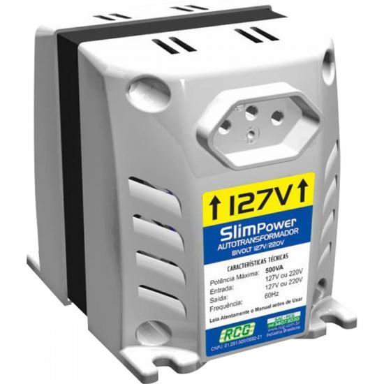Autotransformador 127/220VAC 500VA SLIM POWER Prata RCG