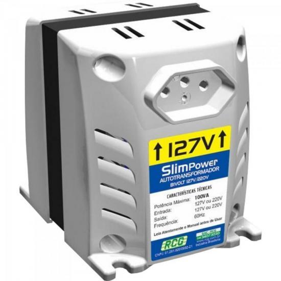 Autotransformador 127/220VAC 100VA SLIM POWER Prata RCG