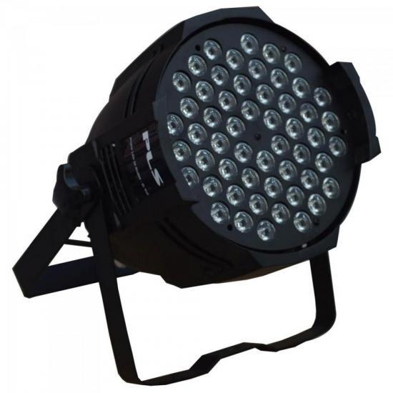 Aparelho de Iluminação 3W 54 LEDs Bivolt PROPAR RGBW Preto