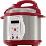 Panela de Pressão Elétrica Sabore 220V PAN900 Prata/Vermelha CADENCE