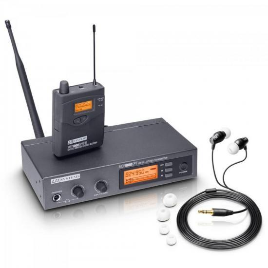 Sistema de Monitoramento sem Fio IN EAR MEI 1000 G2 Preto LD SYSTEMS