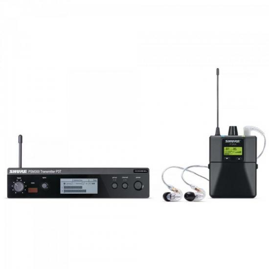 Sistema de Monitoramento sem Fio IN EAR P 3 TRA 215 CL Preto SHURE