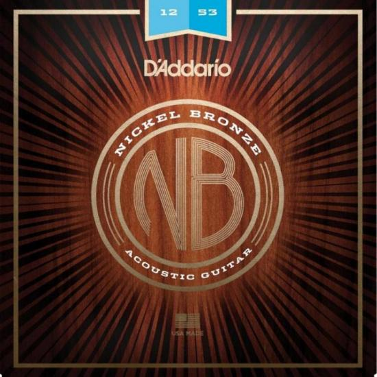 Encordoamento Para Violão Aço NB1253 .012 ~ .053 Níquel Bronze D'ADDARIO