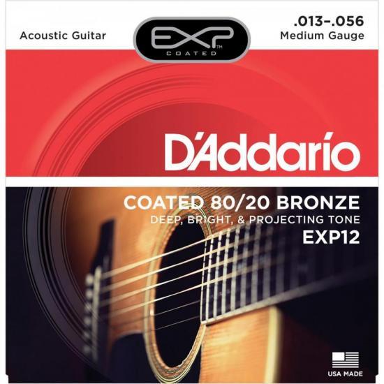 Corda de Aço Para Violão EXP12 013 Vermelho D'ADDARIO