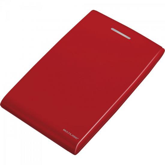 """Case para HD Externo 2.5"""" GA116 Vermelho MULTILASER"""