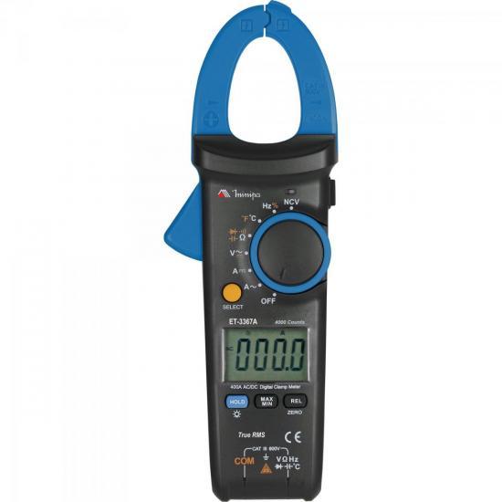 Alicate Amperímetro Digital ET-3367A Azul/Preto MINIPA