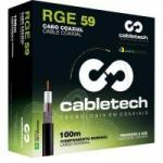 Coaxial RGE 59 67% Branco Rolo 100m CABLETECH