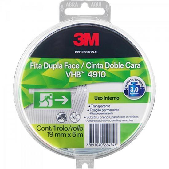 Fita Dupla Face 19mm x 5m VHB 4910 Estojo Transparente 3M