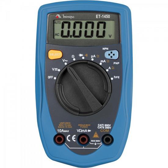 Multímetro Digital ET-1450 Cinza/Azul MINIPA
