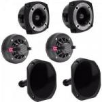 Kit Som Automotivo 120W RMS 8 Ohms 2 DRIVERS + 2 CORNETAS CURTA + 2 SUPER TWEETERS ORION
