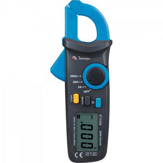 Alicate Amperímetro Digital ET-3122A Azul/Preto MINIPA