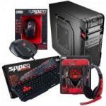 Kit Barebone Gamer Gabinete + Headset + Teclado + Mouse SPIDER FORTREK