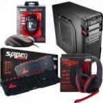 Kit Barebone Gamer Gabinete + Headset + Teclado + Mouse SPIDER TARANTULA FORTREK