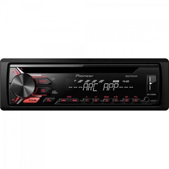 Auto Rádio CD/USB/AM/FM DEH-X1980UB Preto PIONEER