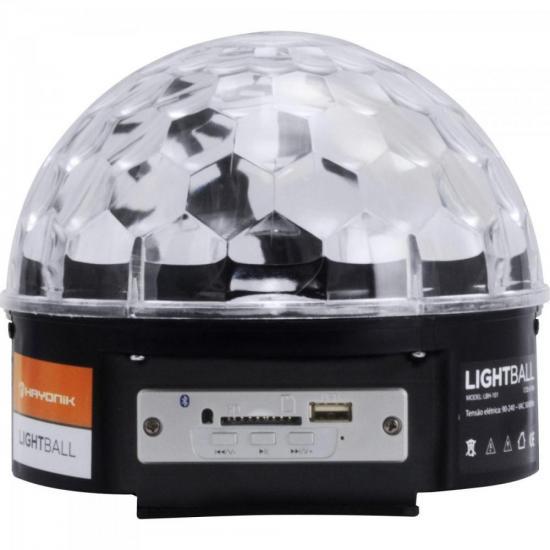 Meia Bola 6 LEDs com SD/USB/Bluetooth LIGHTBALL LBH-101 HAYONIK