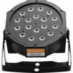 Refletor 18 LEDs 7 Canais DMX512 PAR LED Preto HAYONIK