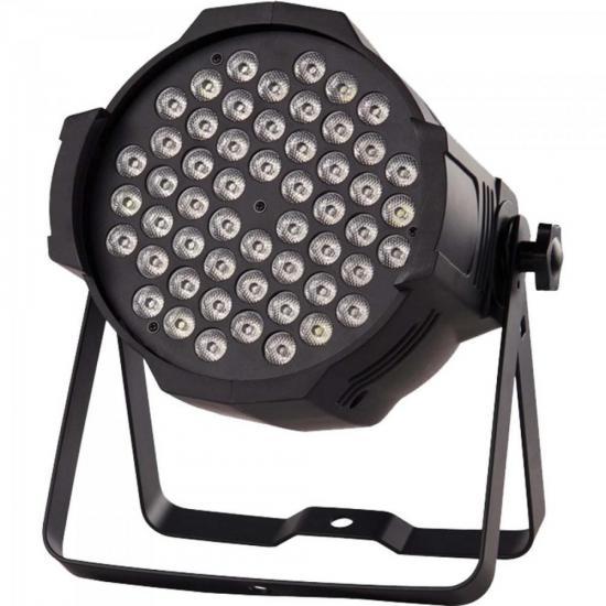Refletor 54 LEDs RGBW 0,5W PRO PAR LP007 Preto ALLTECHPRO