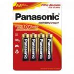 Pilha Alcalina AA 1,5V LR6XAB/4B192 PANASONIC