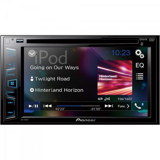 Auto Rádio DVD/USB/AM/FM/BLUETOOTH AVH-298BT Preto PIONEER