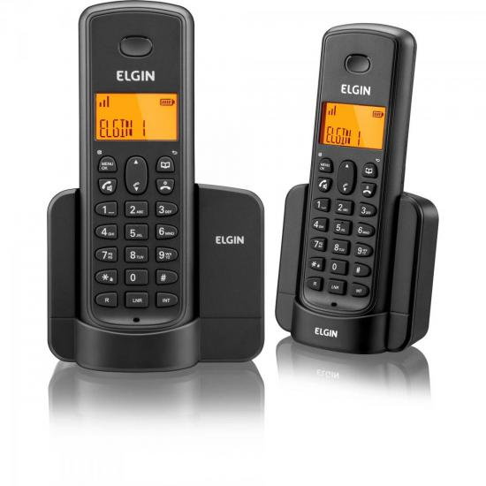 Telefone sem Fio com ID + Ramal TSF-8002 Preto ELGIN