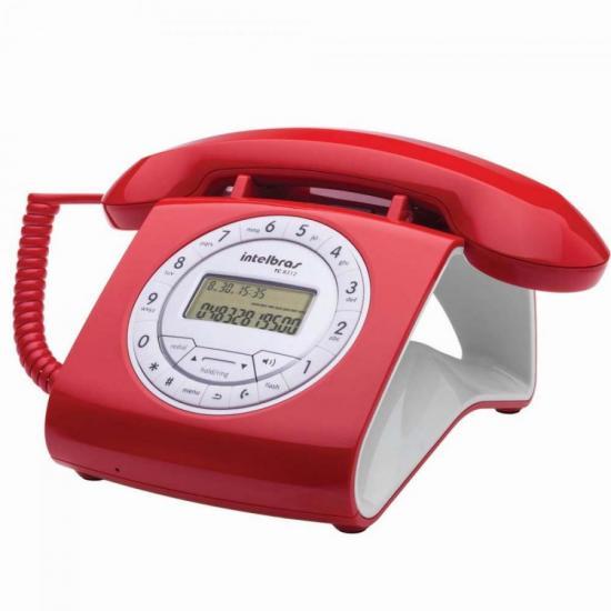Telefone c/ fio RETRO TC8312 Vermelho INTELBRAS