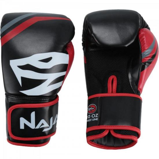 Luvas de Boxe Adulto FIRST 16-OZ Preto NAJA