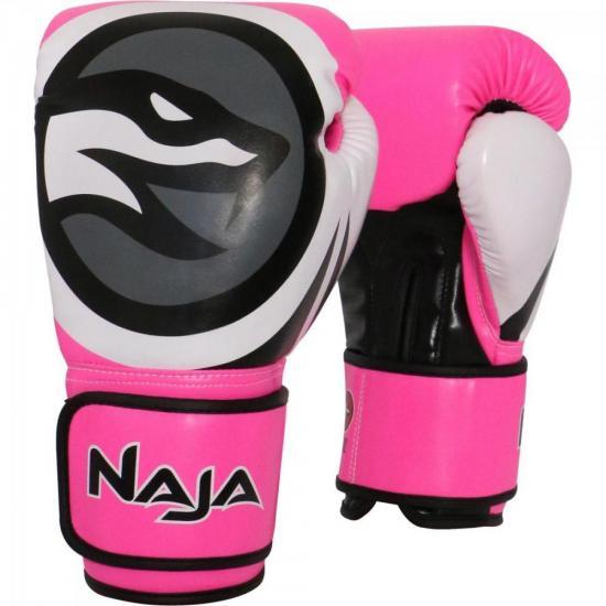 Luva de Boxe COLORS FLUOR 16-OZ Rosa NAJA