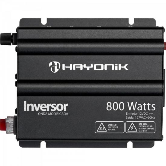 Inversor 800W 12VDC/127V Onda Modificada Cinza Escuro HAYONIK