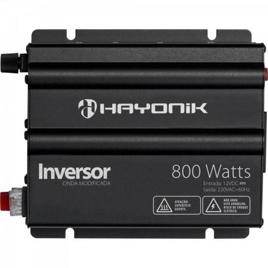 Inversor 800W 12VDC/220vV Onda Modificada Cinza Escuro HAYONIK
