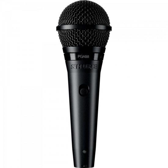 Microfone de Mão UHF PGA58-LC Preto SHURE