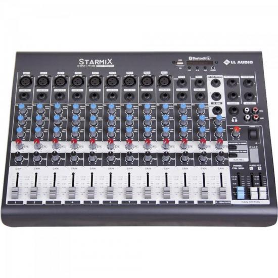 Mesa de Som 12 Canais Stereo Starmix XMS1202R Cinza LL AUDIO